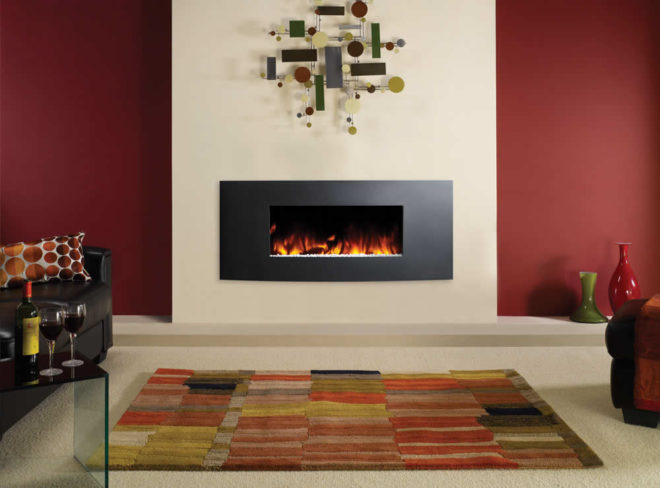 Stovax Studio Electric Verve Wall Mounted Fires Costa Blanca